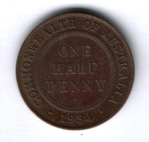 1/2 пенни 1934 г. Австралия