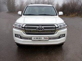 Защита переднего бампера  75х42 мм для Toyota Land Cruiser 200 2015 -