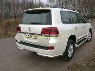 Защита заднего бампера 76 мм для Toyota Land Cruiser 200 2015 -