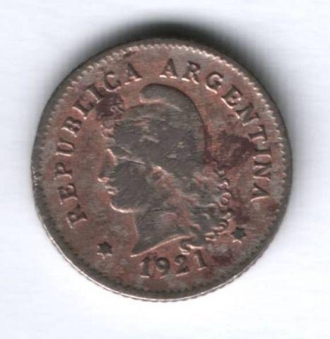 10 сентаво 1921 г. Аргентина
