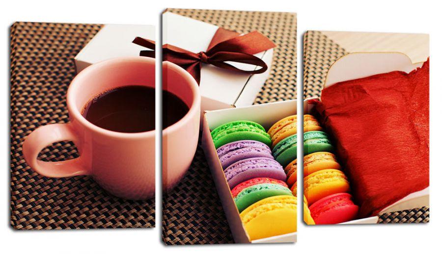Модульная картина Какао и печенье