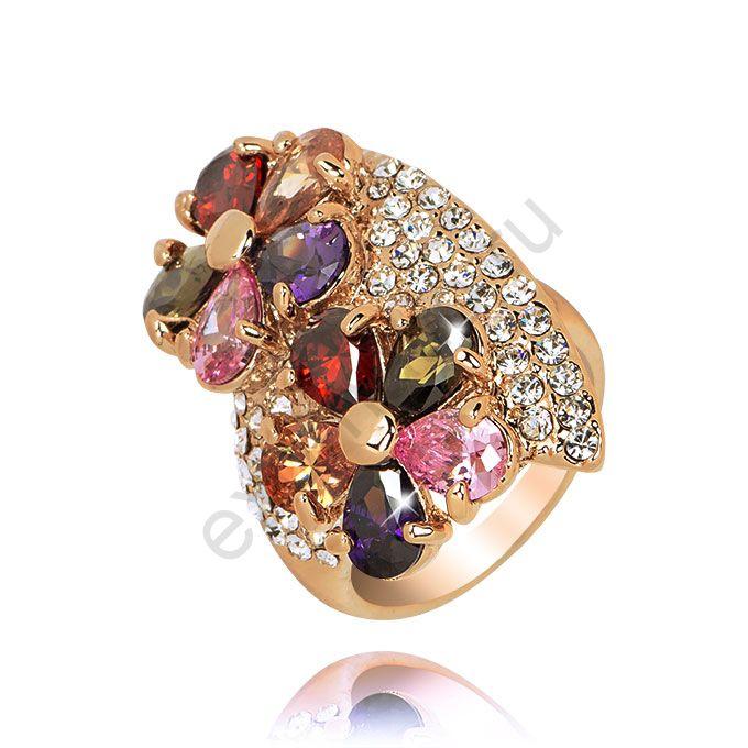 Кольцо Queen 37455-9529. Кольцо Цветы