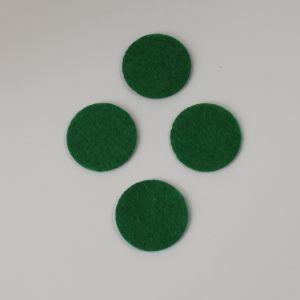Фетровые пяточки 25мм, цвет № 48 зеленый