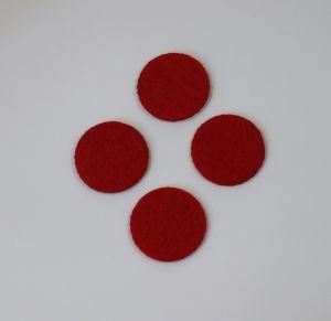 Фетровые пяточки 30мм, цвет № 06 красный