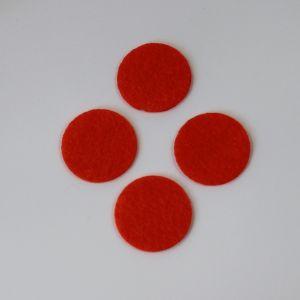 Фетровые пяточки 35мм, цвет № 18 кислотно-оранжевый