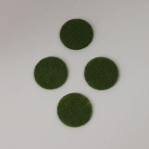 Фетровые пяточки 40мм, цвет № 47 оливковый
