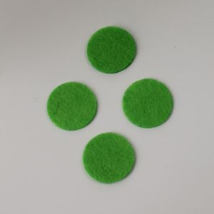 Фетровые пяточки 40мм, цвет № 50 светло-зеленый