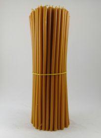 Свечи церковные восковые № 40, 1 кг. Длина 26 см, диаметр 7мм. 100 штук/пачка