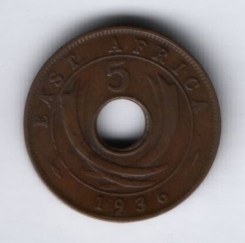 5 центов 1936 г. Восточная Африка