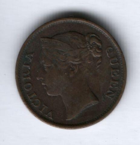 1/2 цента 1845 г. Стрейтс Сетлментс