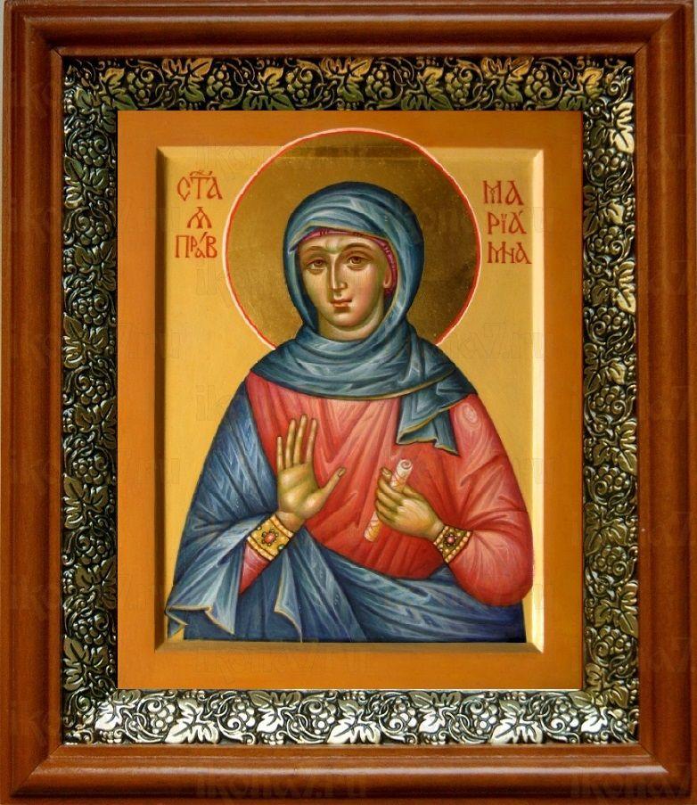 Мариамна Праведная (19х22), светлый киот