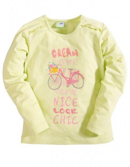 Лонгслив для девочки Велосипед