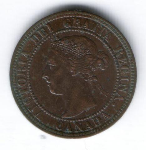 1 цент 1901 г. Канада