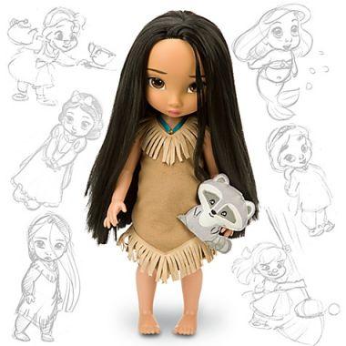 Кукла Покахонтас в детстве Дисней