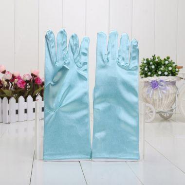 Перчатки Эльзы Холодное сердце синие