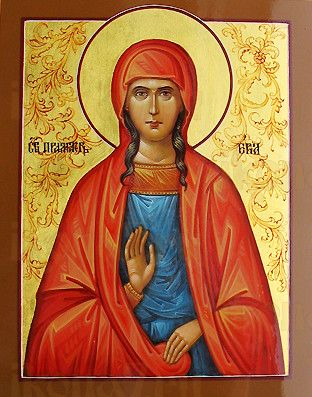 Ева, праматерь (рукописная икона)