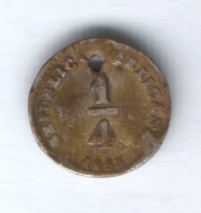 1/4 реала 1863 г. Мексика