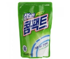 Корейское средство для мытья посуды Chamgreen Концентрат CJ Lion 580 мл, флакон-дозатор