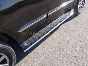 Защита штатного порога 42 мм для Lexus LX Sport 2013-