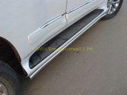 Защита штатного порога 42 мм для Lexus GX 2013-