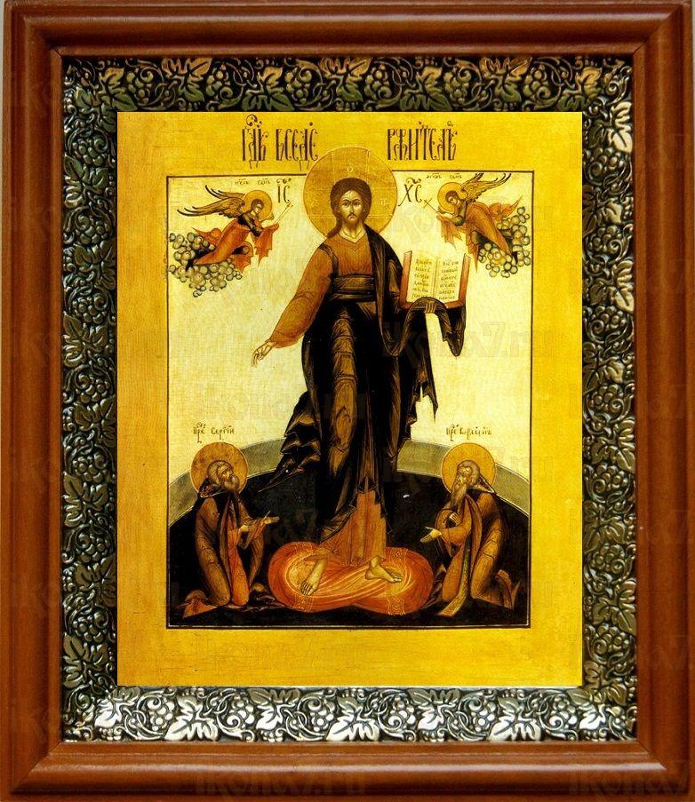 Спас Смоленский (19х22), светлый киот