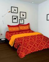Индийское красное покрывало для спальни, на двухспальную кровать, интернет магазин