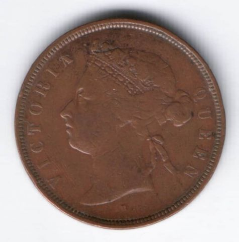 1 цент 1874 г. Стрейтс Сетлментс