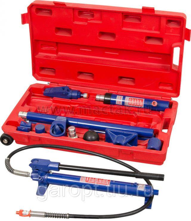 Набор гидравлического инструмента (гидравличекая растяжка), 10 т, кейс, 17 предметов МАСТАК 7-1017C