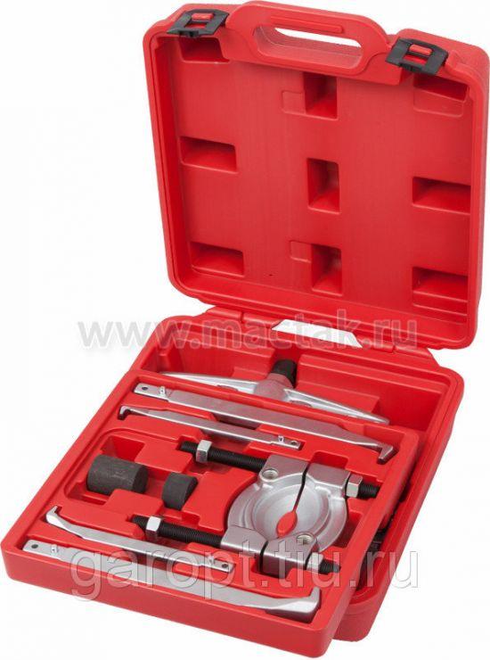 Съёмник подшипников 30 т, 2-х захватный, сегментного типа, кейс, 14 предметов МАСТАК 104-12030C