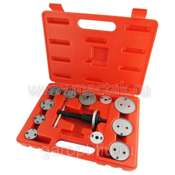 Приспособление для утапливания поршня тормозного цилиндра, кейс, 12 предметов МАСТАК 102-00011C