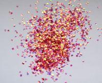 Шестигранники для дизайна ногтей «Рыбья чешуя» розовая
