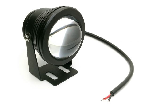Круглая линзованная светодиодная фара рабочего света 10W EPISTAR с нижним креплением