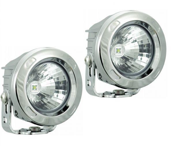 Комплект Светодиодных фар рабочего света (2шт.) Optimus: XIL-OPR160 chrome