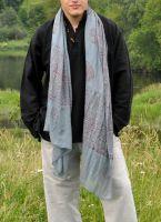 Серый мужской индийский шарф из хлопка, 300 руб. Купить в интернет магазине в Москве