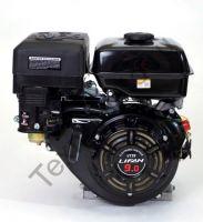 Lifan 177F D225 (9,0 л. с.) с катушкой освещения 7Ампер (84Вт) четырехтактный бензиновый двигатель в стандартной комплектации, мощностью 9,0 л. с., и диаметром выходного вала 25 мм.