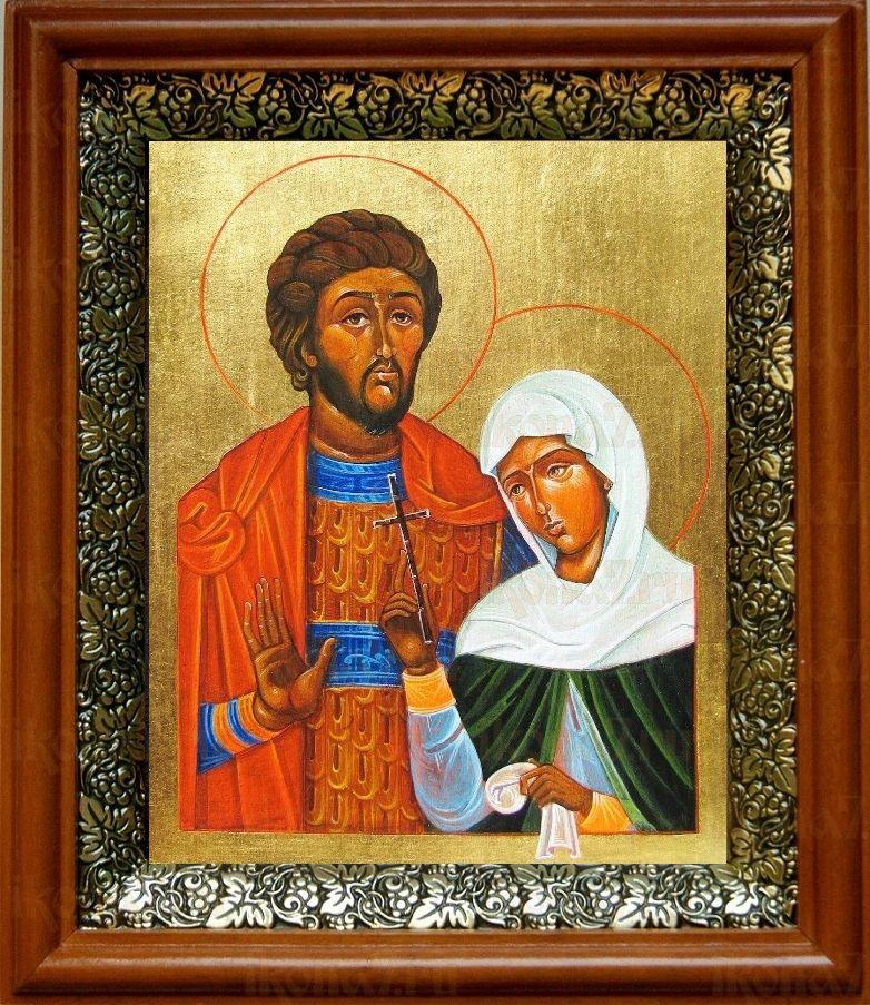Адриан и Наталия (19х22), светлый киот