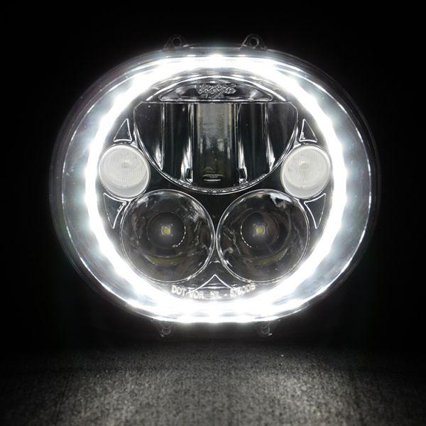 Набор светодиодных фар головного света Prolight Vortex XMC-575ODB KIT черный хром