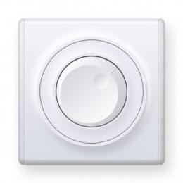 Светорегулятор 600 W для ламп накаливания и галогенных ламп, цвет белый
