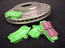 Тормозные колодки EBC, серия Green Stuff, задние, V - 1.4-1.6 турбо