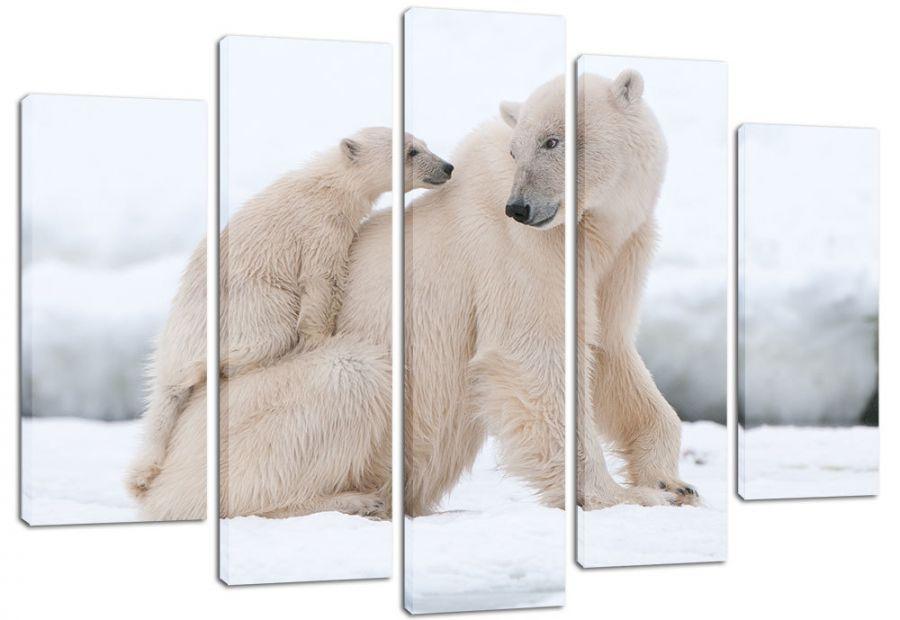 Модульная картина Белые медведи