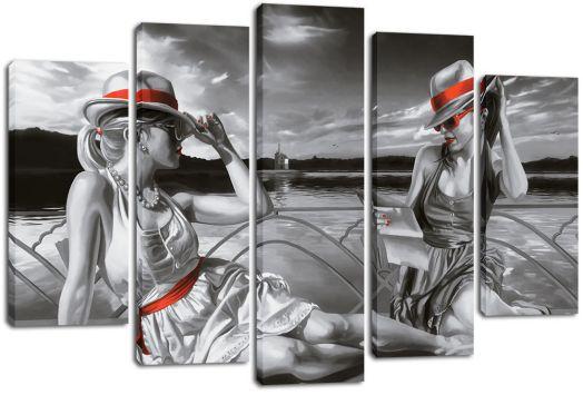 Модульная картина Две девушки на берегу
