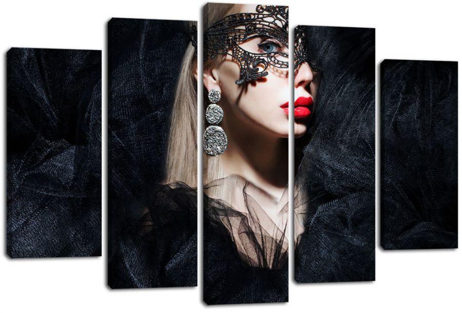 Модульная картина Девушка в маске