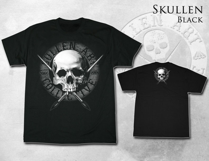 EXCLUSIVE Sullen Black Tee SKULLEN Men Shirt