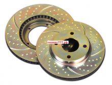 Тормозные диски EBC, серия TurboGroove, передние, V - 1.4 турбо