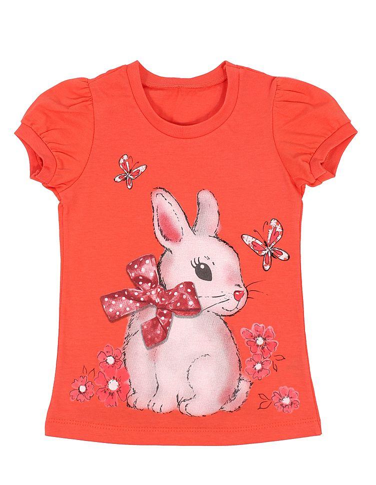 Блуза для девочки Кролик с бантом