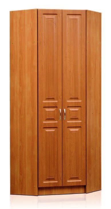Шкаф угловой. 2-х дверный, равнобокий с полками и штангой Шкаф угловой Аливия Модуль 9