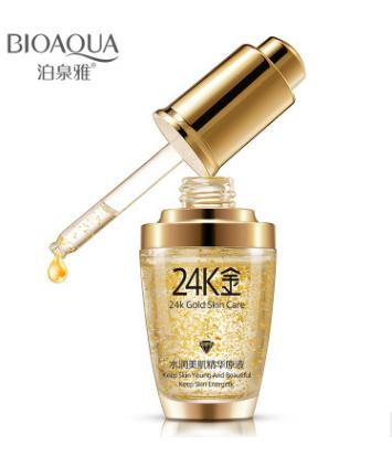 Сыворотка для лица «BIOAQUA» 24K Gold с частицами 24к золота и гиалуроновой кислотой.(0887)
