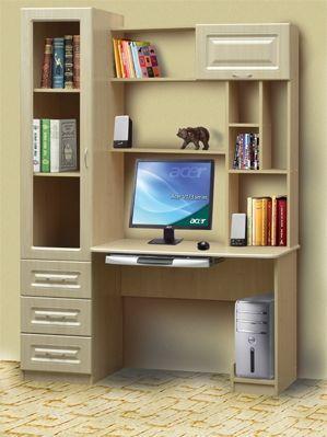 Стол компьютерный СК-13  (МДФ глянец)  Профи