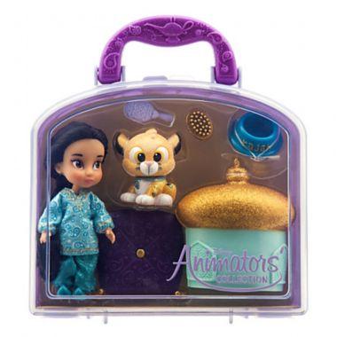 Игровой набор мини куклы аниматоры Жасмин с аксессуарами Дисней