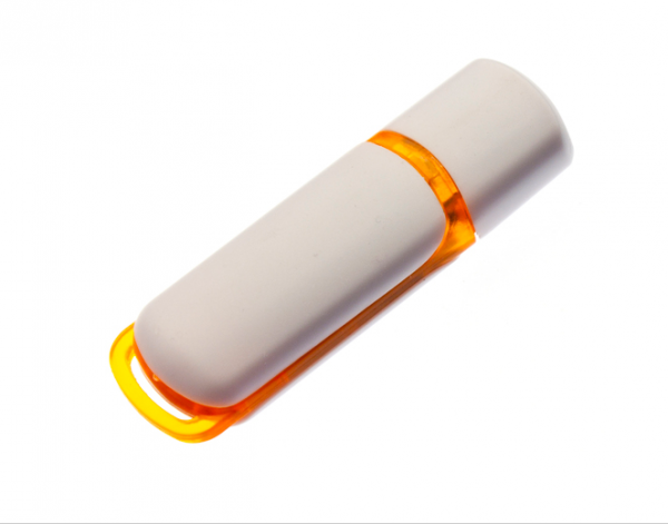 8GB USB-флэш корпус для флешки UsbSouvenir 235, белая-оранжевая